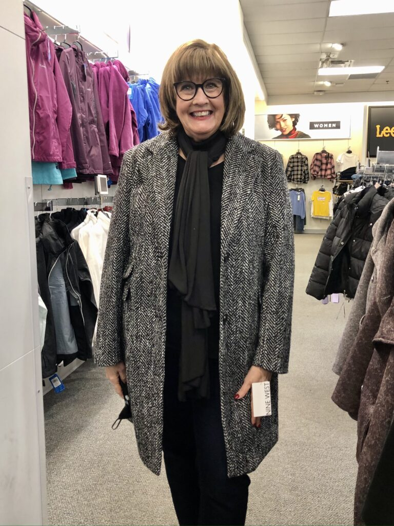 Pamela Lutrell in Nine West Coat