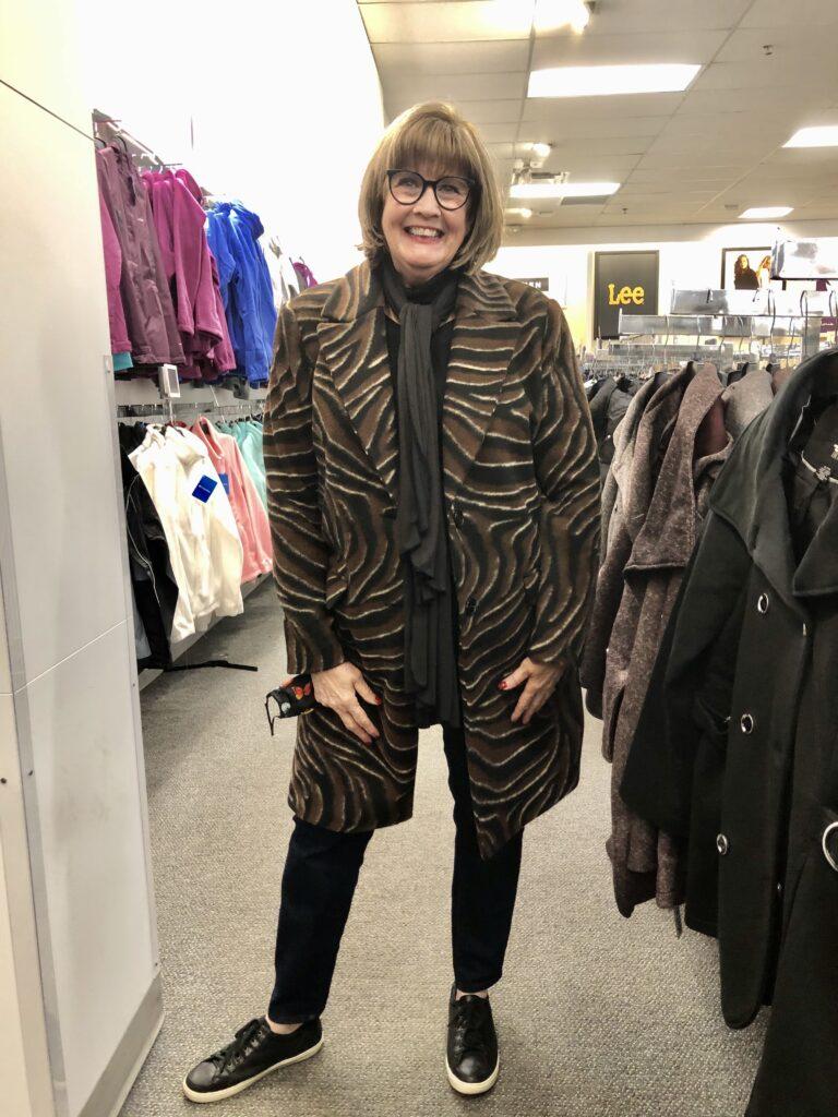 Pamela Lutrell in Kohl's Coats