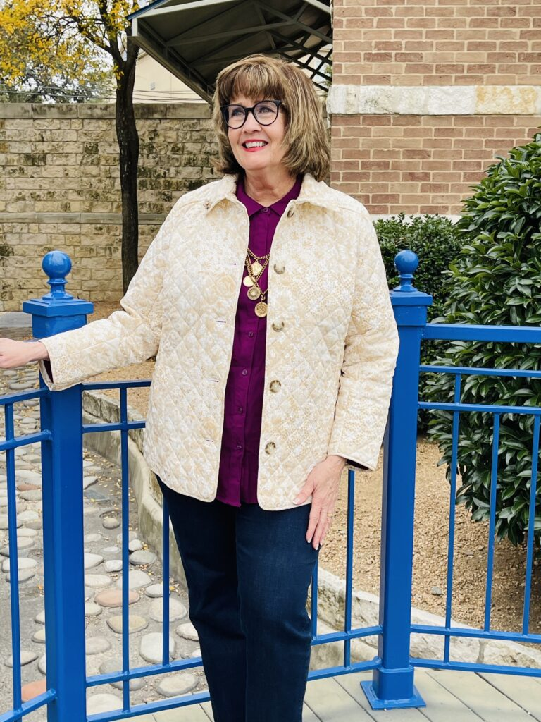 Chicos Quilted Jacket 2020 on Over 50 Feeling 40