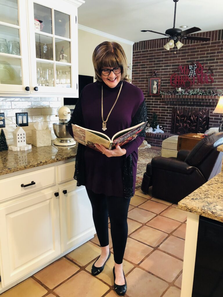 Pamela Lutrell with Southern Living Christmas Cookbook