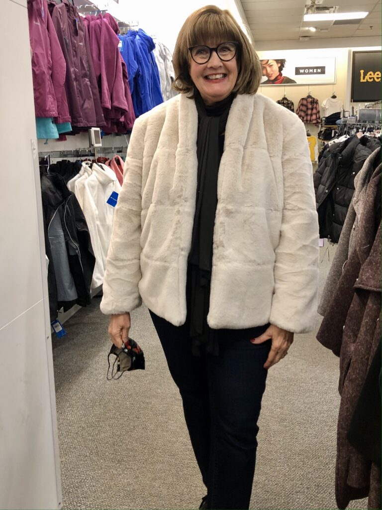 Pamela Lutrell in Simply Vera Fleece Jacket at Kohls