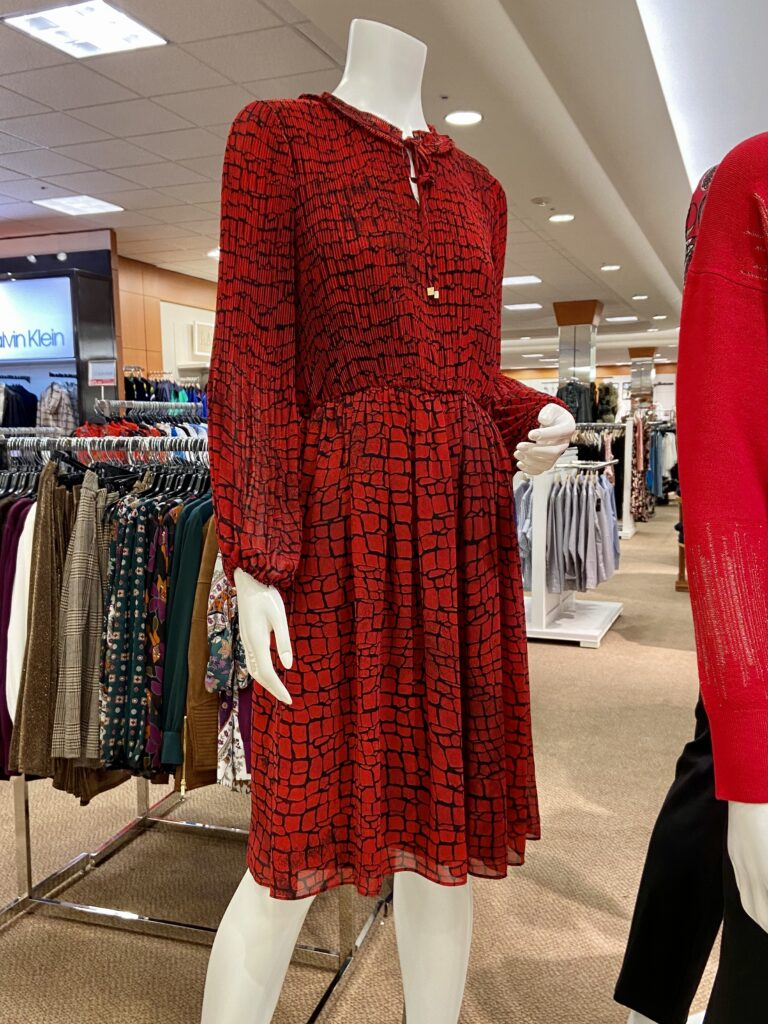 Would You Wear this Calvin Klein red dress on over 50 Feeling 40