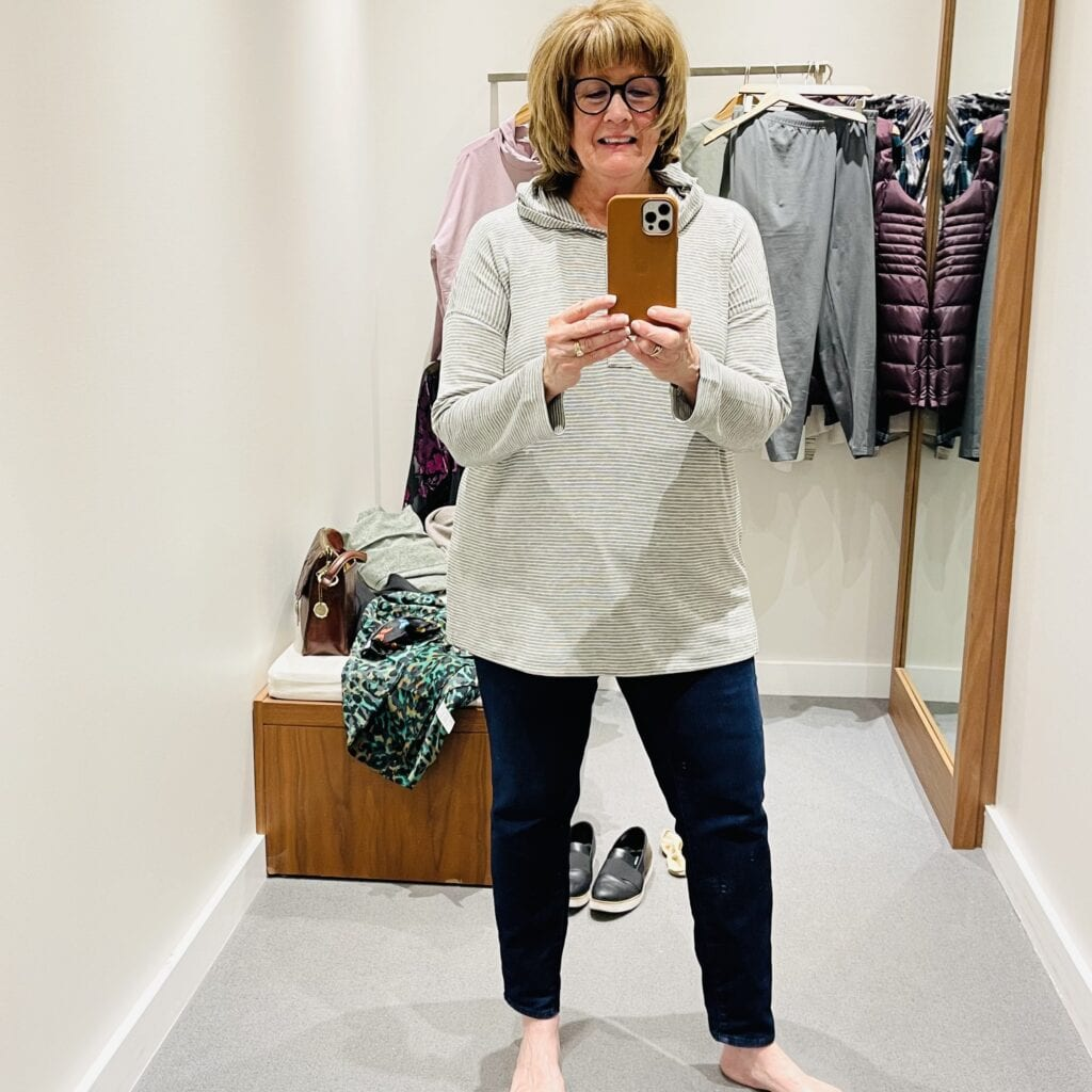 JJill Textured Hooded Sweater is a hit on over 50 Feeling 40