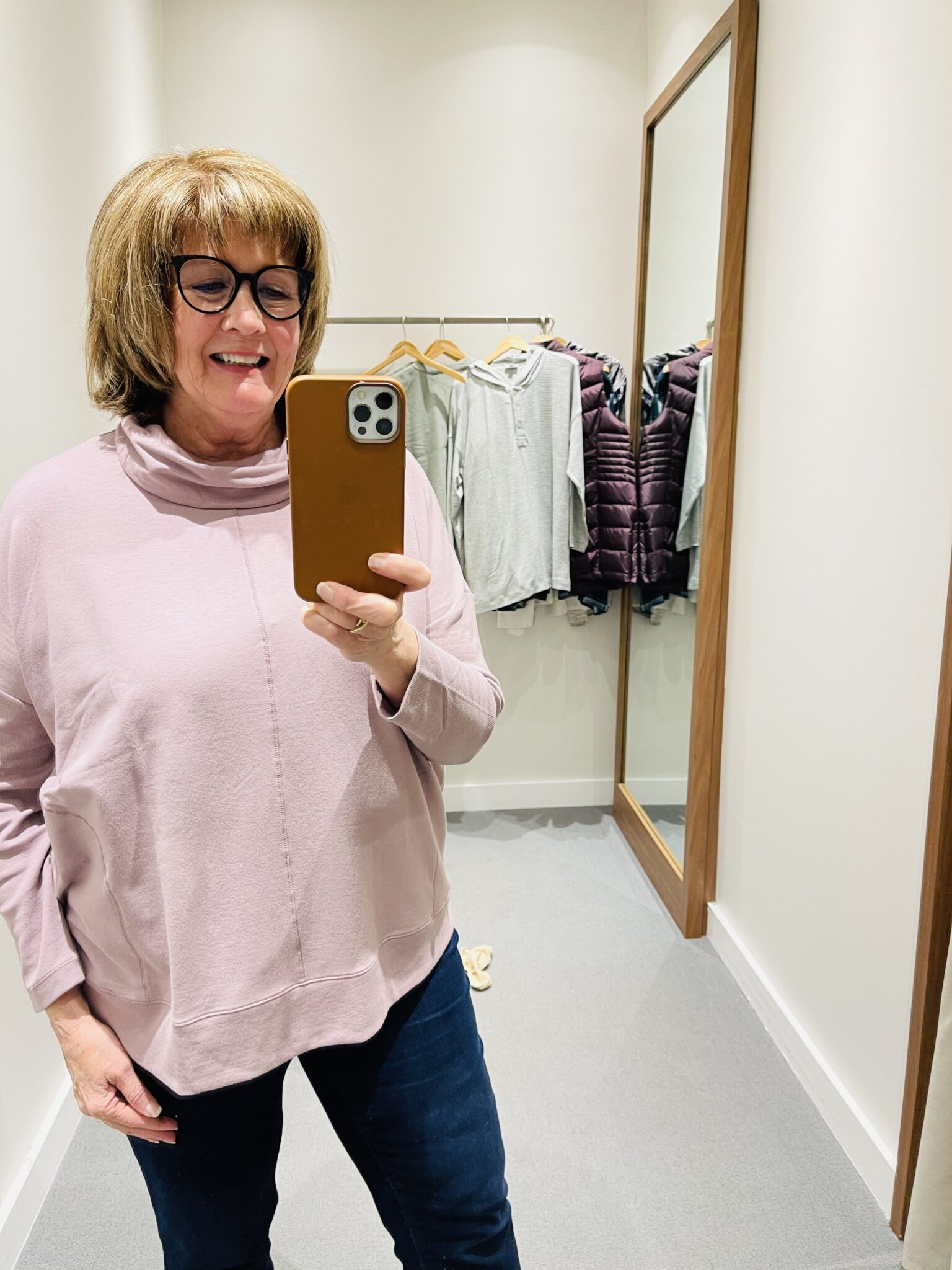 Pamela Lutrell shops JJill for nicer casual style in wardrobe transition to retirement