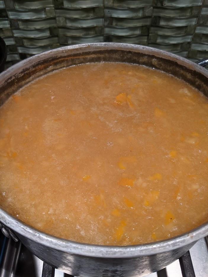 Iris lemon jam cooking