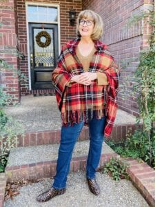 Pamela Lutrell in JJill Sweater on Over 50 Feeling 40