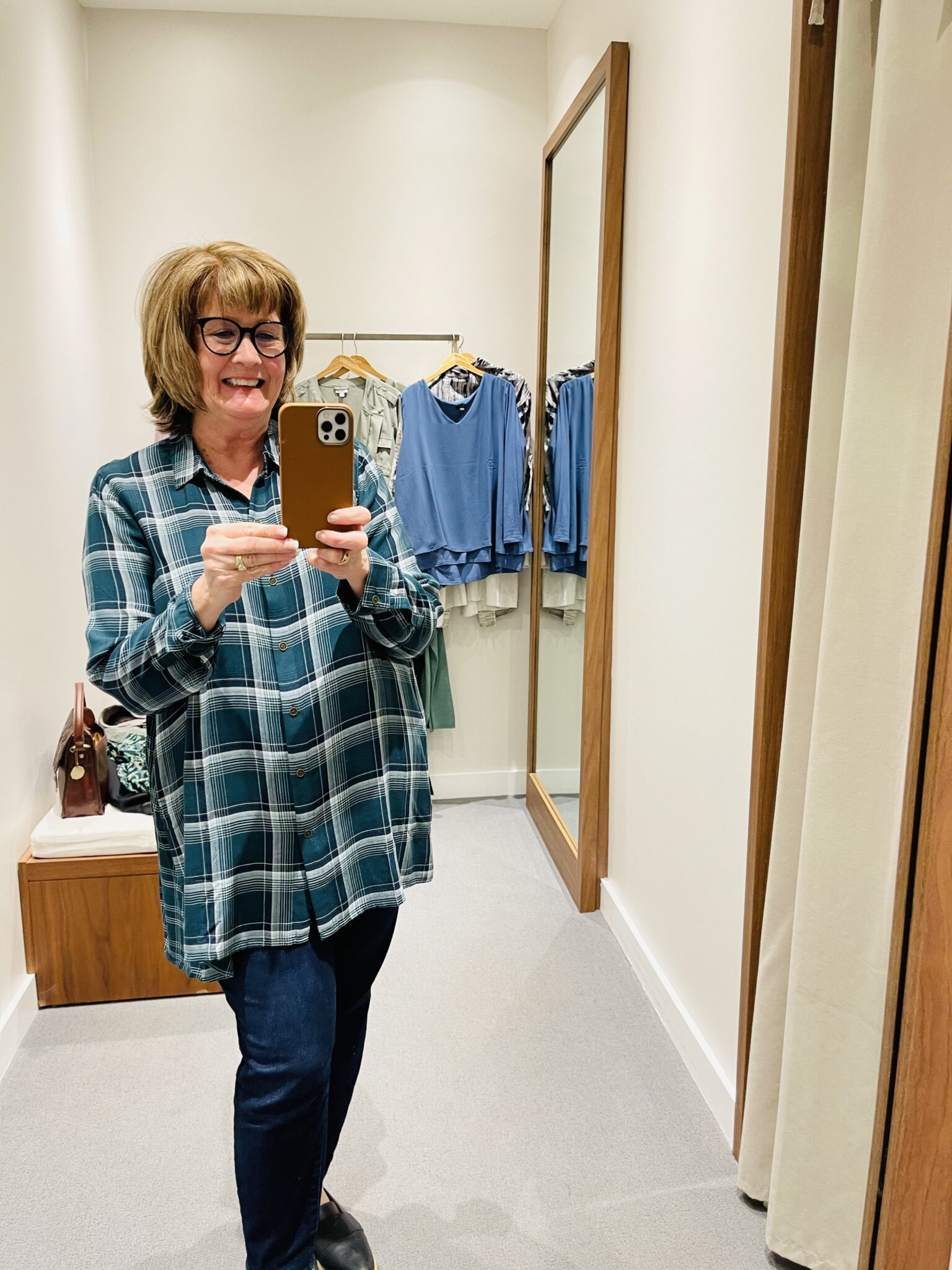 JJill Plaid tunic is a miss for Over 50 Feeling 40