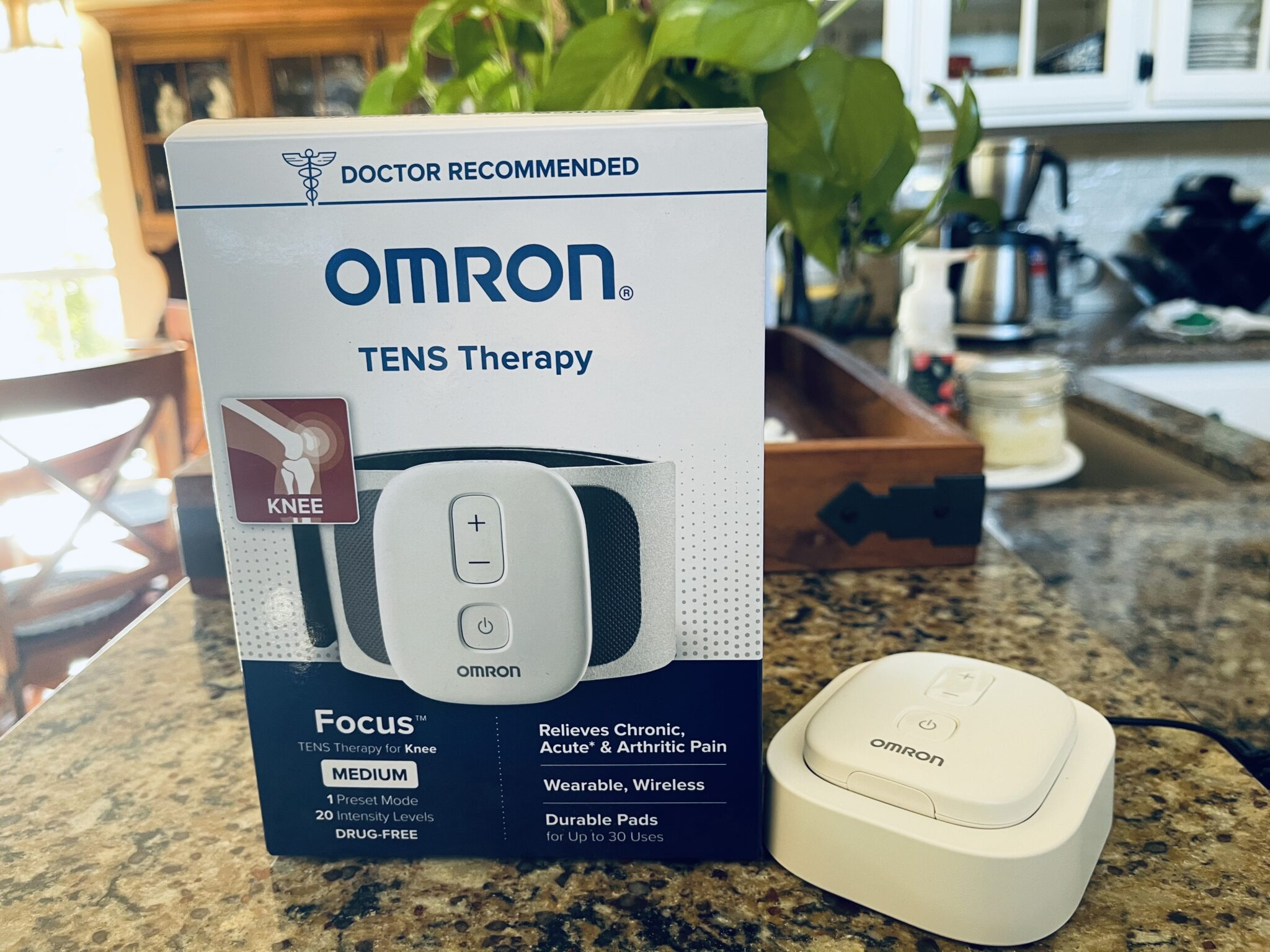 OMRON TENS THERAPY FOR Knees drug free pain relief