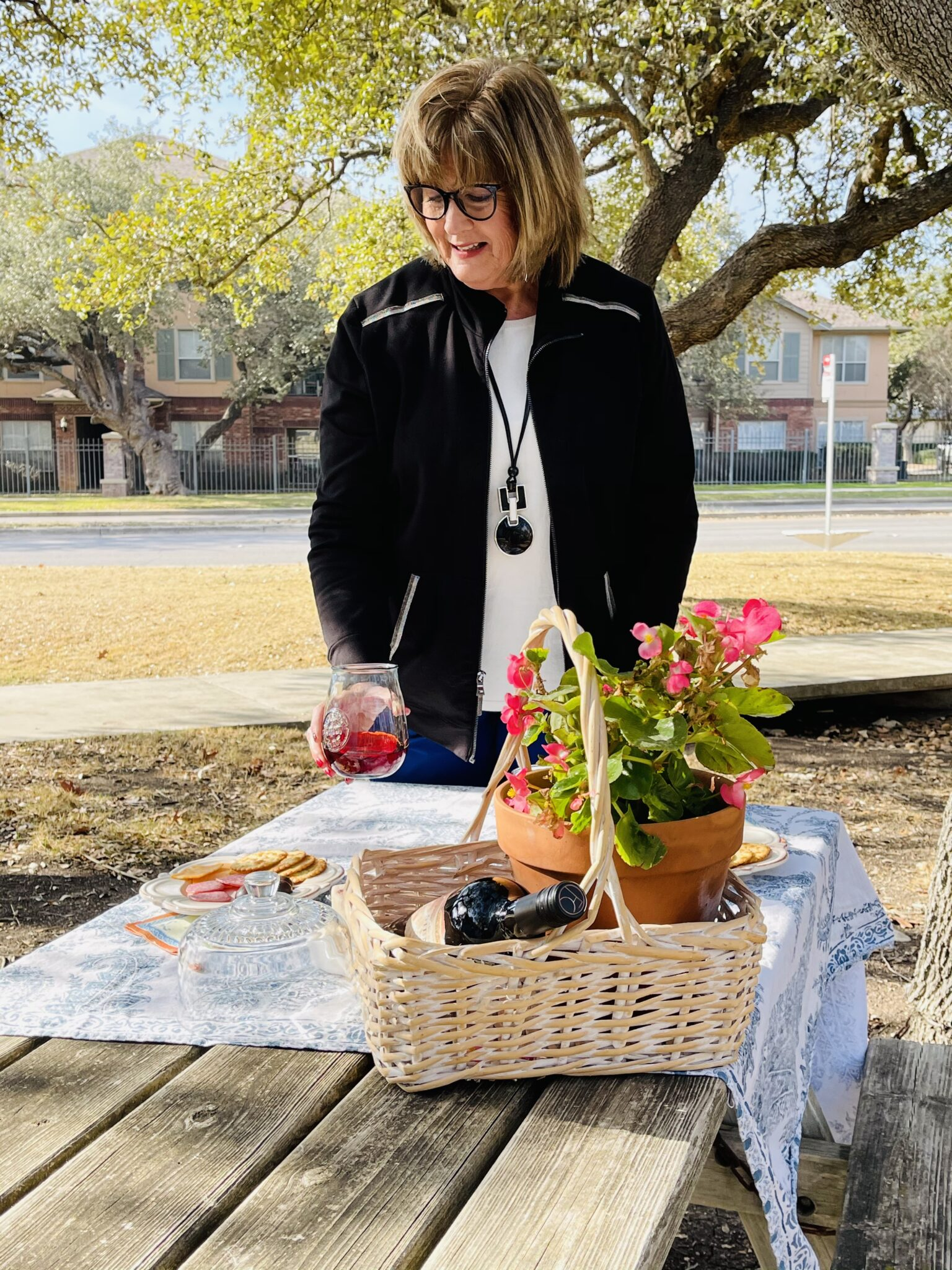 Outdoor dining, truffles and Chico's Zenergy