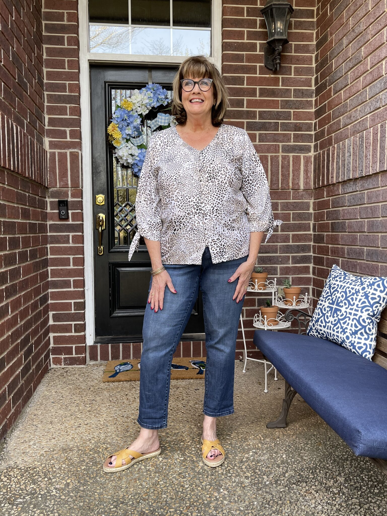 One little change to casual at home style makes a huge difference