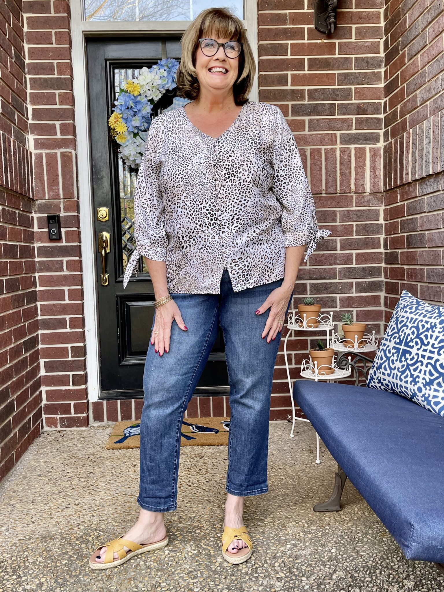 One little change to casual, at home style makes a huge difference