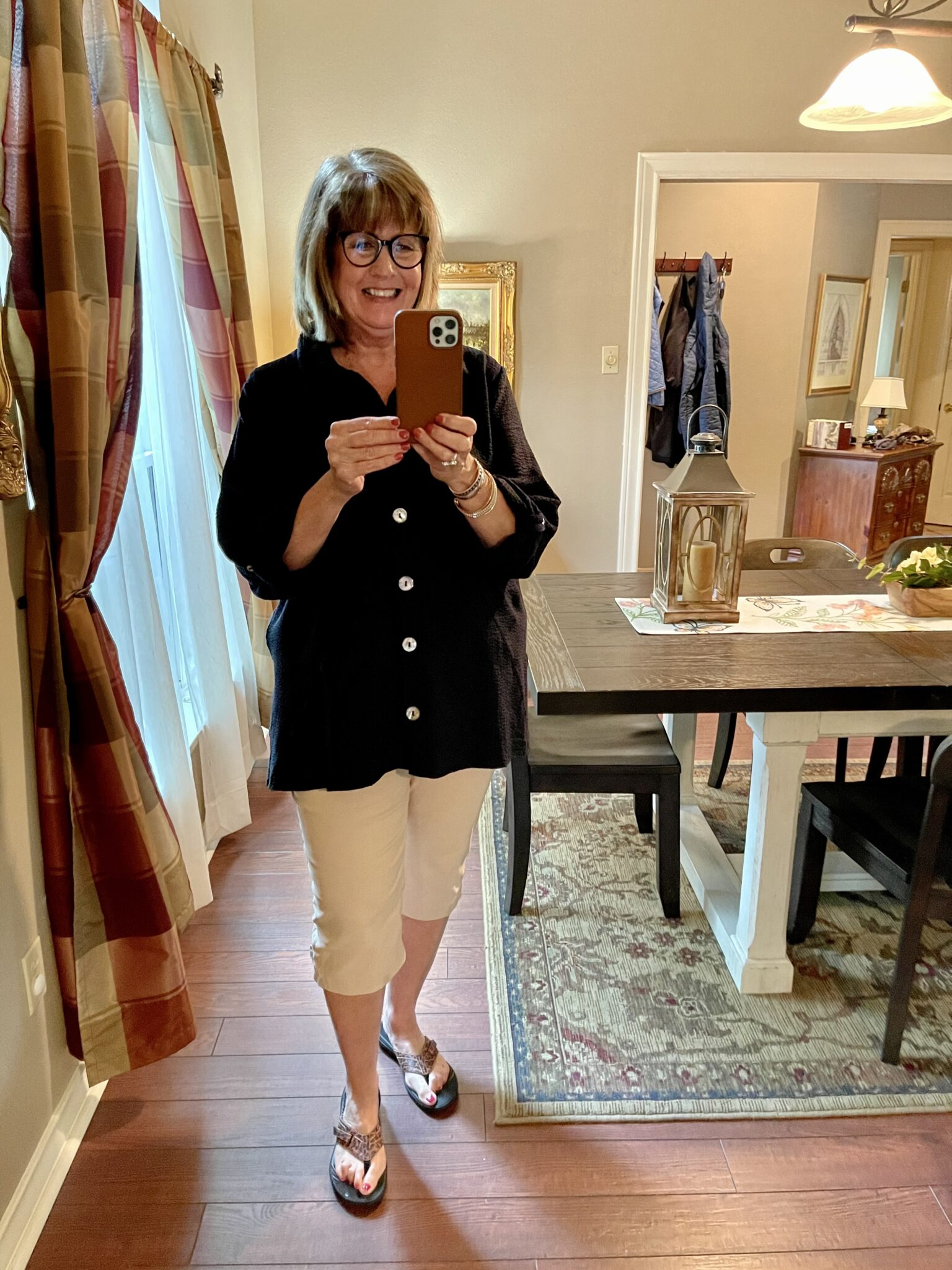 Chicos slim fit capris are a great length for warmer weather