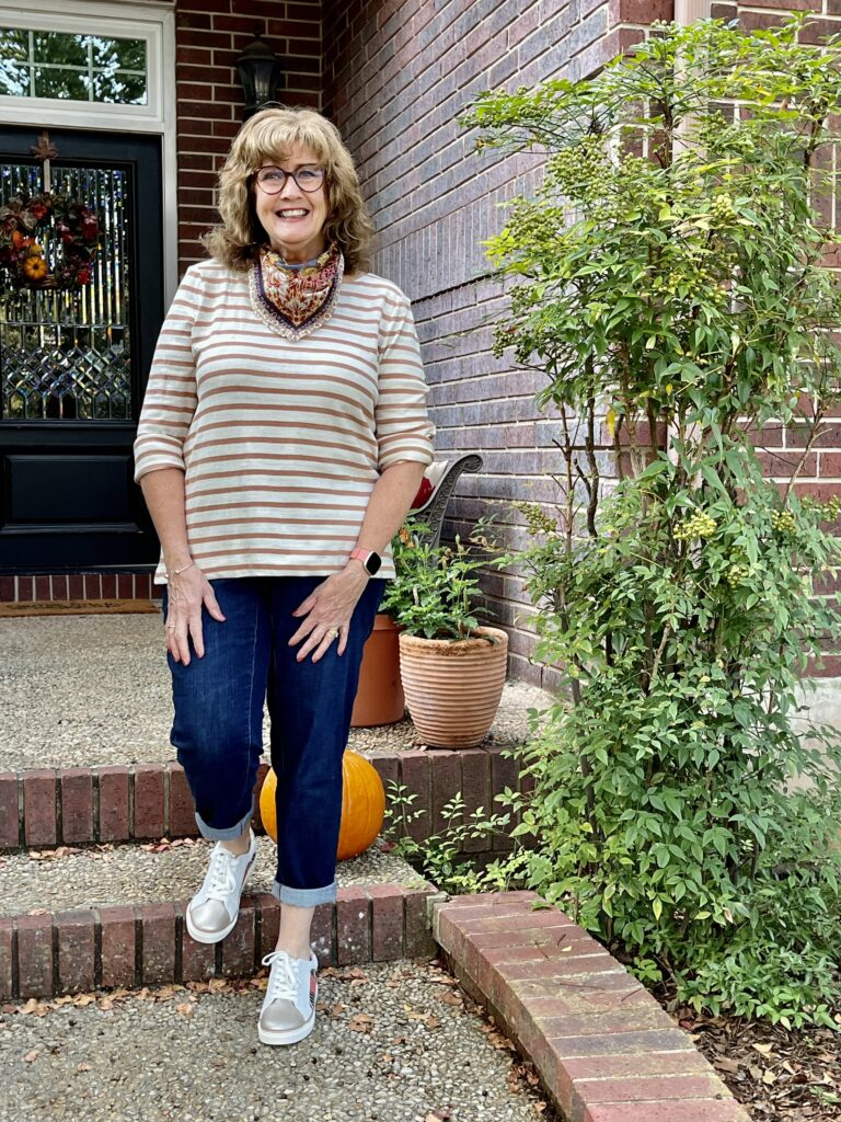 Casual Fall Outfit: Changing my stripes