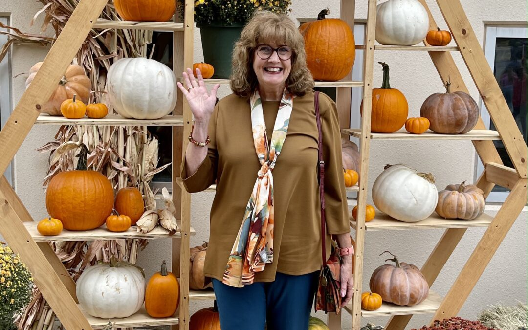 Fall outfit, pumpkins and scones